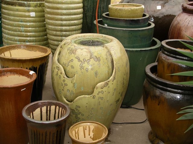 We have a vast selection of containers and pottery. You're sure to find styles that will work well in your space.